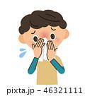 鼻水 風邪 インフルエンザのイラスト 46321111