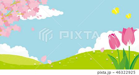 春イメージ 背景 46322925