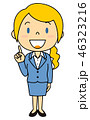 外国人 女性 OLのイラスト 46323216