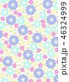 和柄 背景 花柄のイラスト 46324999