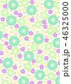 和柄 背景 花柄のイラスト 46325000