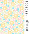 和柄 背景 花柄のイラスト 46325001
