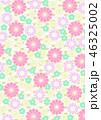 和柄 背景 花柄のイラスト 46325002