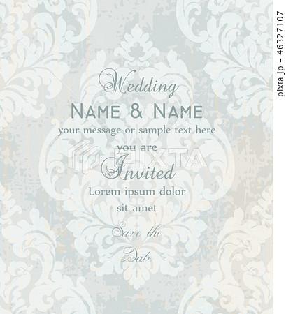 Vintage Baroque Victorian Invitation card Vector 46327107