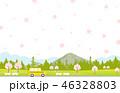 桜 春 コピースペースのイラスト 46328803