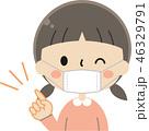 子ども マスク 予防のイラスト 46329791