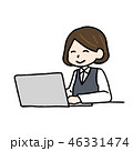 パソコンと女性 46331474