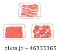 肉 豚肉 パックのイラスト 46335365