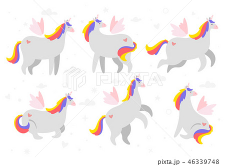 Cute unicorn. Fairytale animal 46339748