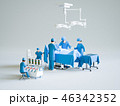 手術室 手術 医者のイラスト 46342352