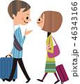 海外旅行をするカップル 46343166