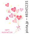 風船 ハート バレンタインのイラスト 46345235