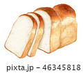 パン 食パン 水彩のイラスト 46345818