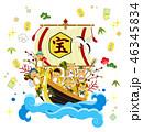 宝船と七福神 46345834