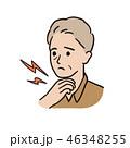 喉の痛み- 年配の男性 46348255