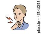 喉の痛み- 男性 46348258