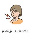 喉の痛み- 女の子 46348260