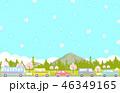 桜 春 渋滞のイラスト 46349165