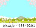 桜 春 コピースペースのイラスト 46349201