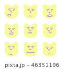 キャラクター 表情 熊のイラスト 46351196