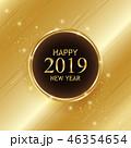 2019 クリスマス グリーティングのイラスト 46354654