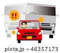 煽り運転 自動車 軽自動車のイラスト 46357173