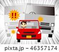 煽り運転 自動車 軽自動車のイラスト 46357174