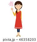 エプロン 女性 全身のイラスト 46358203