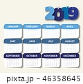 2019 カレンダー 暦のイラスト 46358645