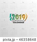 2019 カレンダー 暦のイラスト 46358648