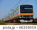 晴れ 電車 列車の写真 46359059