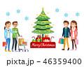 人々 人物 買い物客のイラスト 46359400