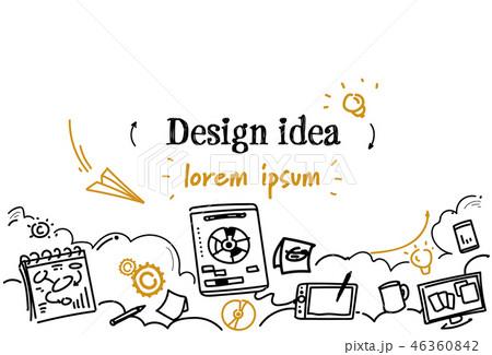 graphic design idea development concept sketch doodle horizontal copy space 46360842