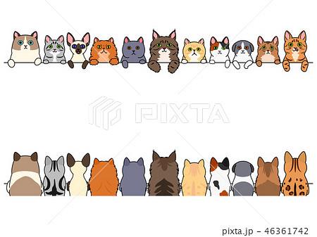 ボーダー イラスト素材 動物 イラスト 後ろ姿 猫 Wwwpikuchanecom