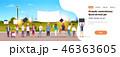 都市景観 人々 人物のイラスト 46363605
