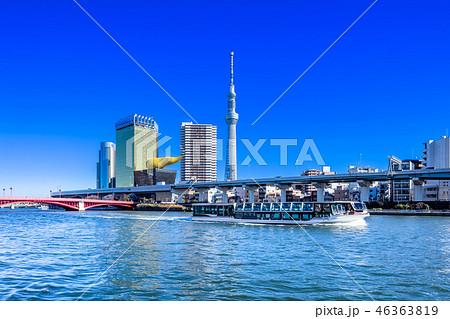 東京 浅草 隅田川とスカイツリー 46363819
