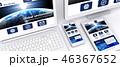 レスポンシブ パソコン スマートフォンのイラスト 46367652