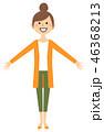 女性 若い ベクターのイラスト 46368213
