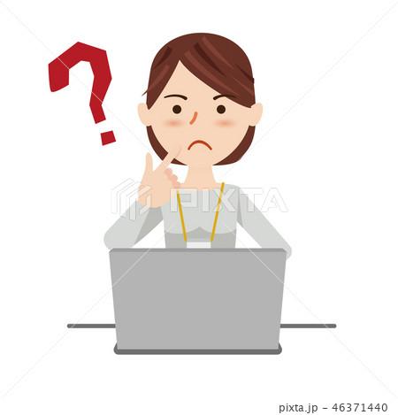 ビジネスウーマン カジュアル パソコン 46371440