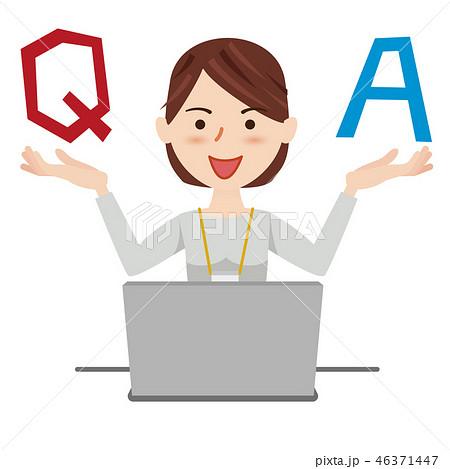 ビジネスウーマン カジュアル パソコン 46371447