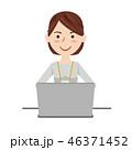 ビジネスウーマン カジュアル パソコン 46371452