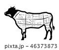 牛 部位 全身 肉 ステーキ 焼き肉 メニュー 黒 白黒 精肉 ピング png 背景 透明 透過 46373873