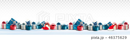 Three Holiday Christmas banners with presents 46375629