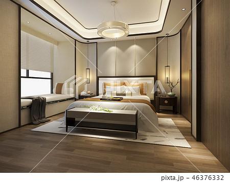 beautiful luxury bedroom suite in hotel with tv 46376332