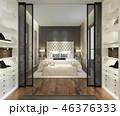 ベッドルーム 寝室 現代のイラスト 46376333