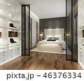 ベッドルーム 寝室 現代のイラスト 46376334