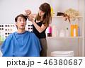 バーバー 床屋 理髪師の写真 46380687