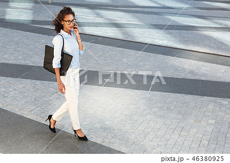 High angle view of woman in formal clothes  46380925