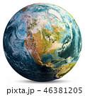 地球 マップ 地図のイラスト 46381205