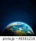 地球 マップ 地図のイラスト 46381216